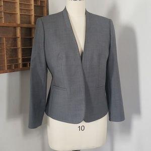 J crew big stretch wool collarless blazer